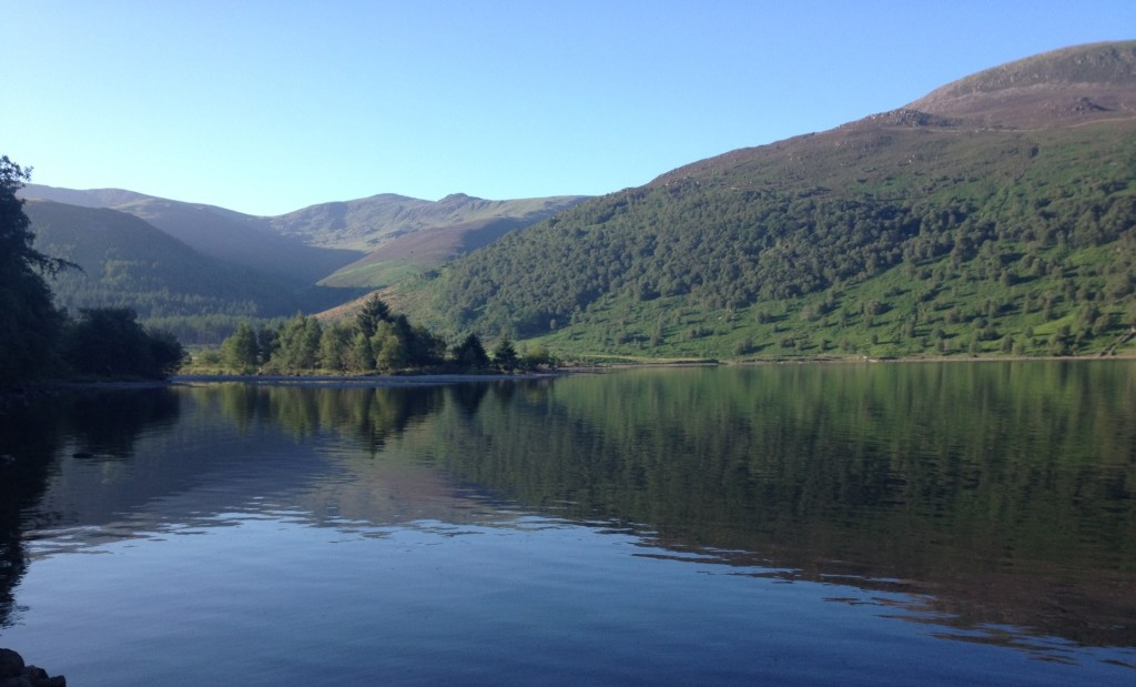 Early morning view over Ennerdale lake