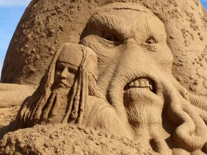 Pirates of the Caribbean at Weston sand sculpture festival