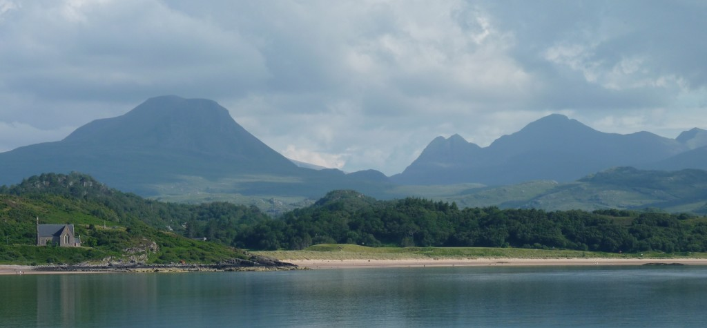 Looking back over Gairloch beach