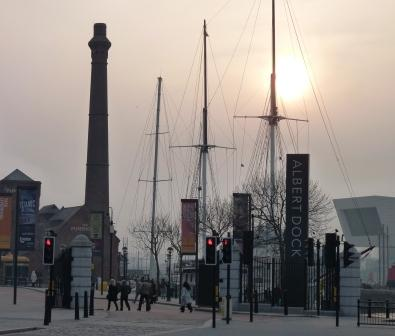 Albert Dock at sunset
