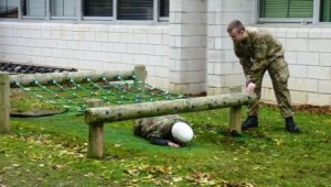 The mini-assault course at REME