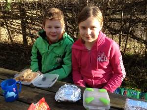Winter picnic at Warburg