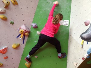 Bouldering at Reading climbing centre