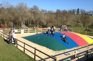 The jumping pillow, Bucklebury Farm Park