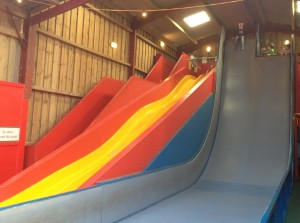 The slides at Bucklebury Farm Park
