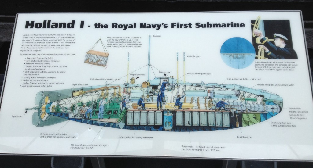 Holland 1, the first Royal Navy submarine