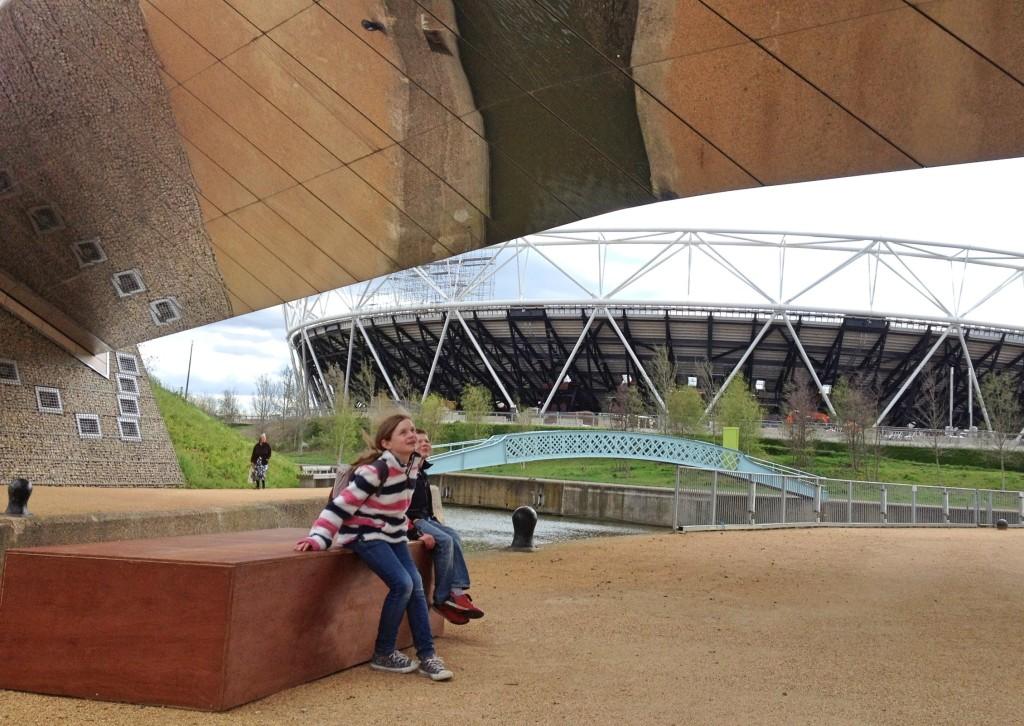 Mirror bridge, Queen Elizabeth Olympic Park