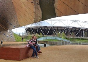 Mirror bridge, Queen Elizabeth Olympic Park
