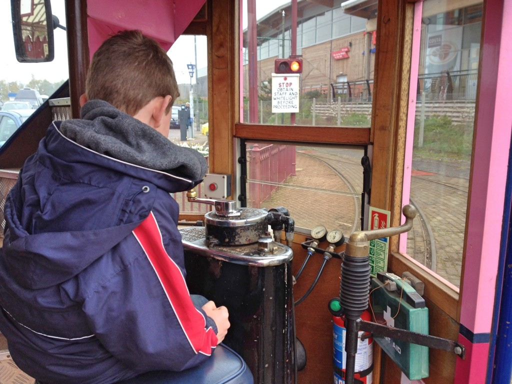In the drivers seat, Seaton Tramway