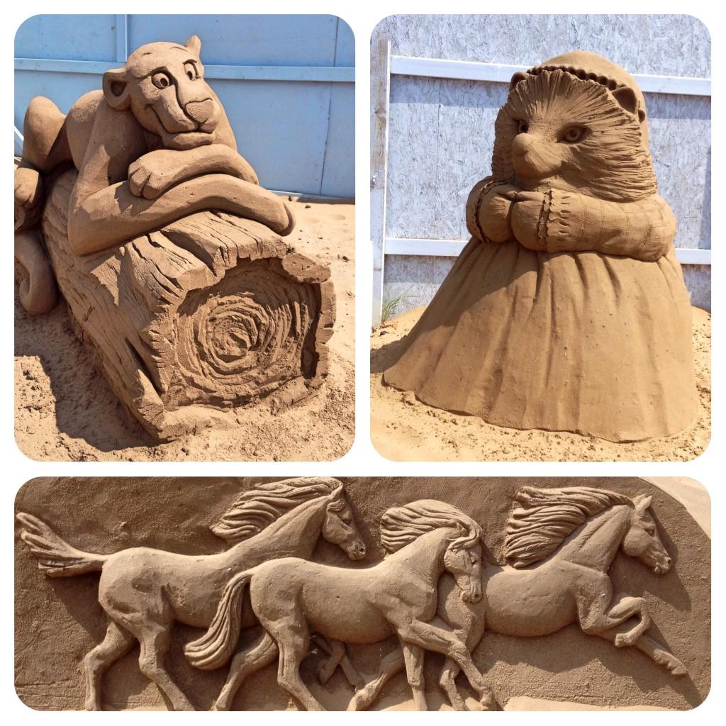 Weston-super-Mare 2014 sand sculptures