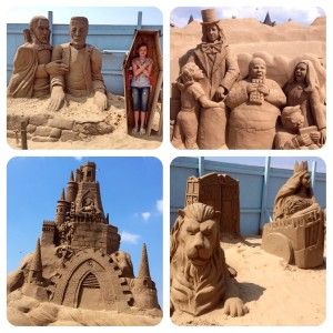 Weston-super-Mare 'Once upon a time' sand sculptures