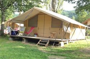 Our safari tent at CosyCamp