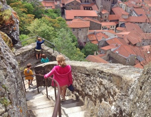Steps down from statue of Notre-Dame, Le Puy