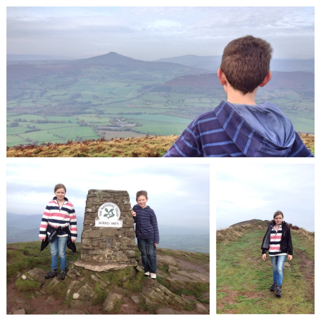On the summit of Skirrid Fawr