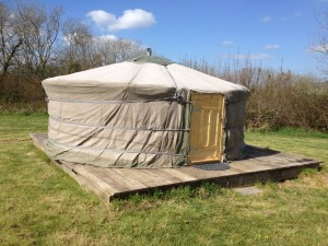 Our yurt - before the rain!