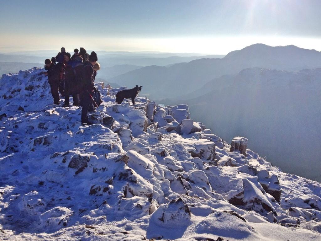 Summit of Harrison Stickle, Elterwater
