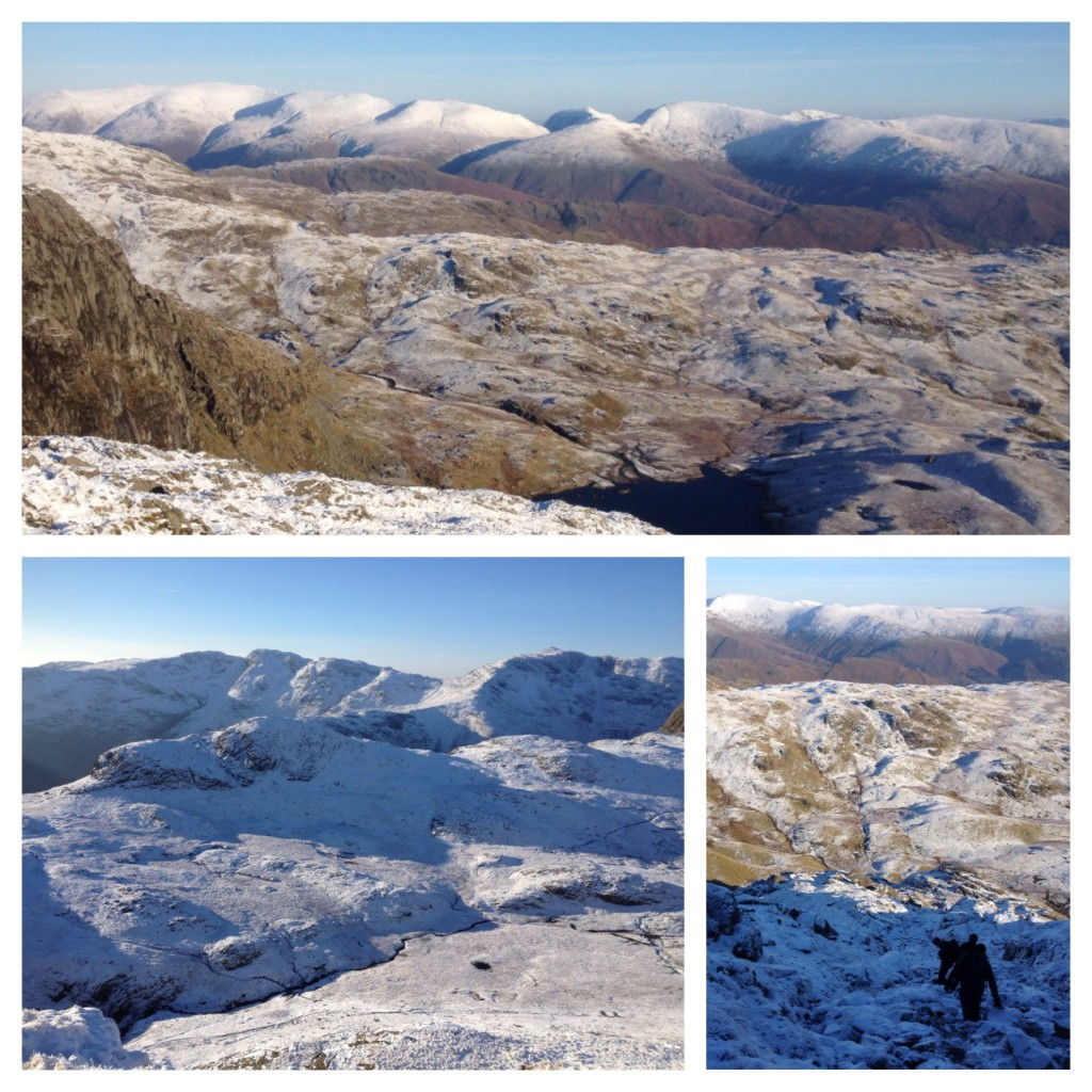 Snow views from Harrison Stickle