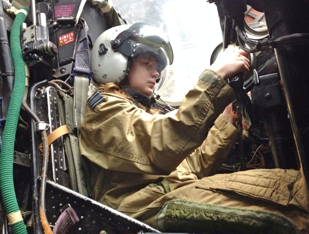 In the cockpit, Boscombe Down