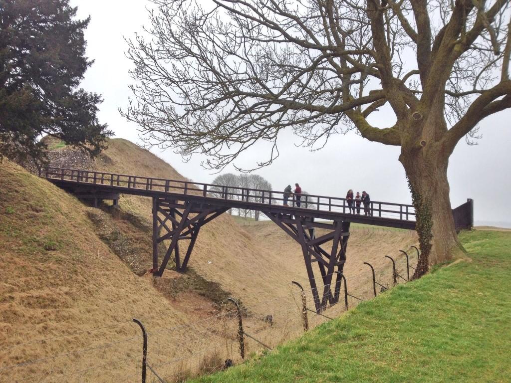Bridge over to Old Sarum castle