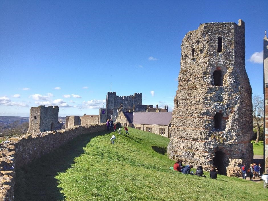 Roman lighthouse at Dover castle