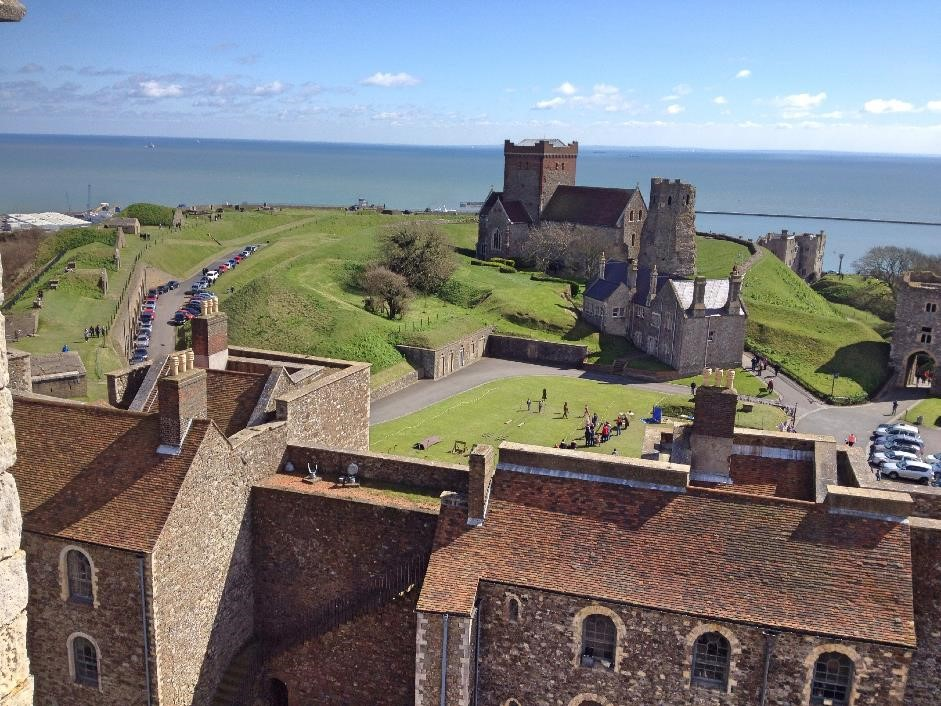 View from the Great Tower, Dover Castle