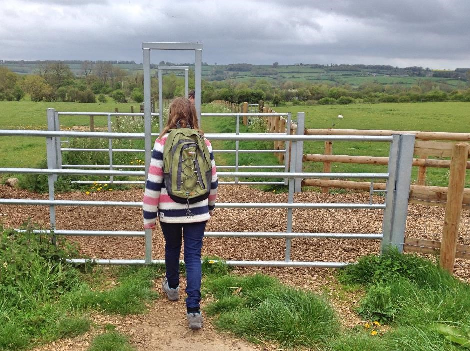 Unusual gate at Greystones Farm nature Reserve