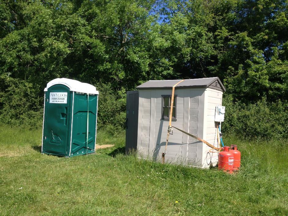 Toilet and shower facilities, Denfurlong Farm campsite
