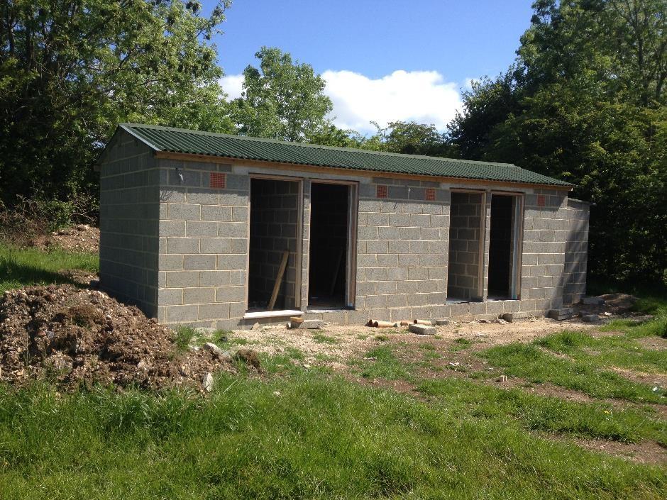 The new toilet block at Denfurlong Campsite