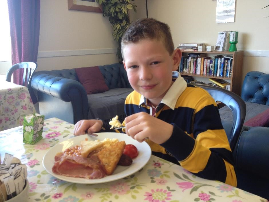 Kids breakfast, Chedworth Farm Shop cafe