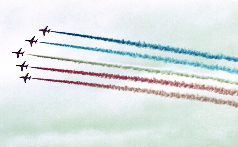 Red Arrows display, RAF Benson, Oxfordshire