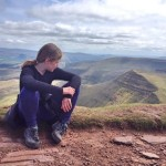 Admiring the view from Pen-y-Fan