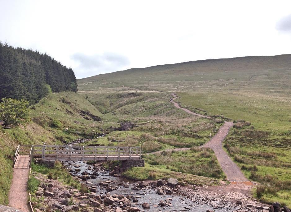 Start of the route up Pen-y-Fan