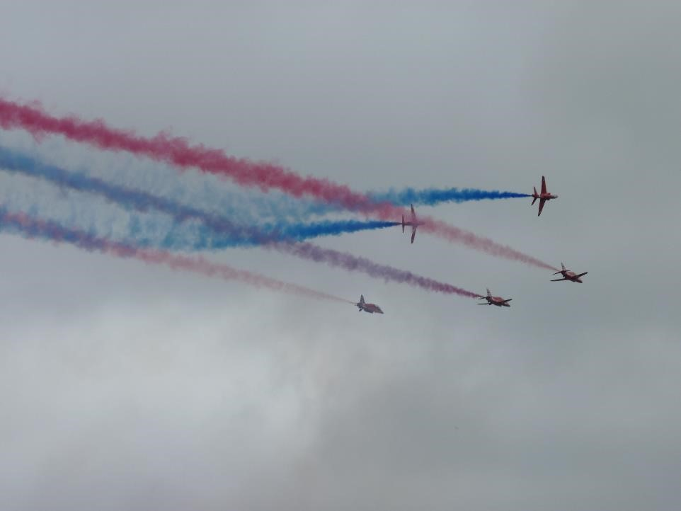 Red arrows, RAF Benson display