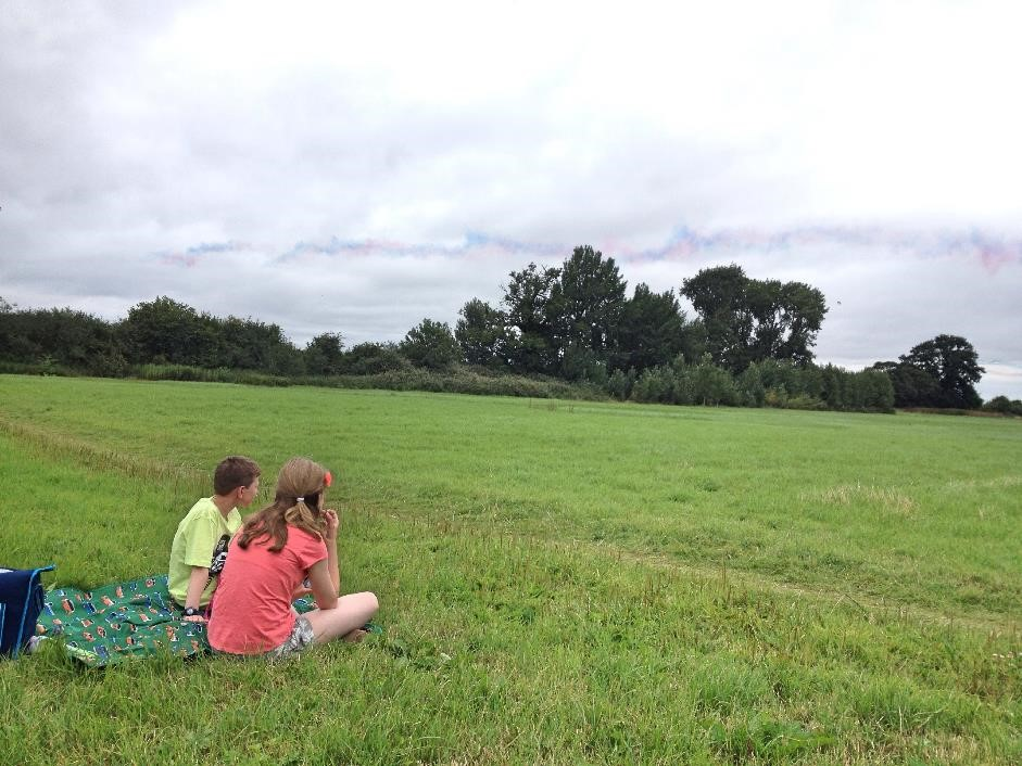 Watching the Red Arrows, RAF Benson