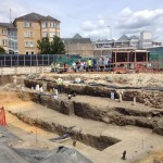 The new and the old, Westgate dig, Oxford