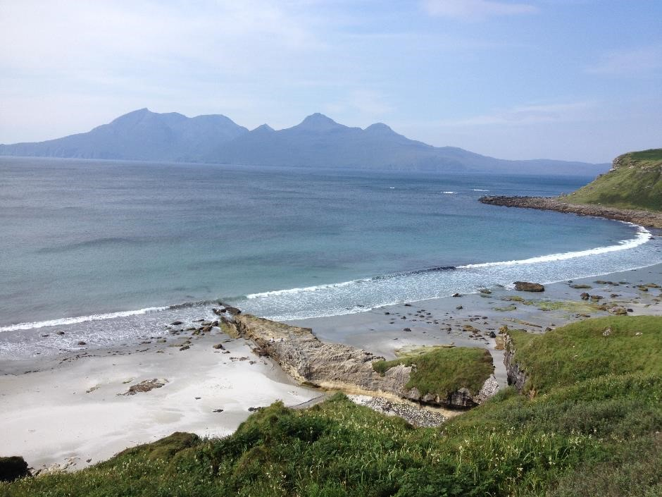 The path to Singing Sands beach, Isle of Eigg