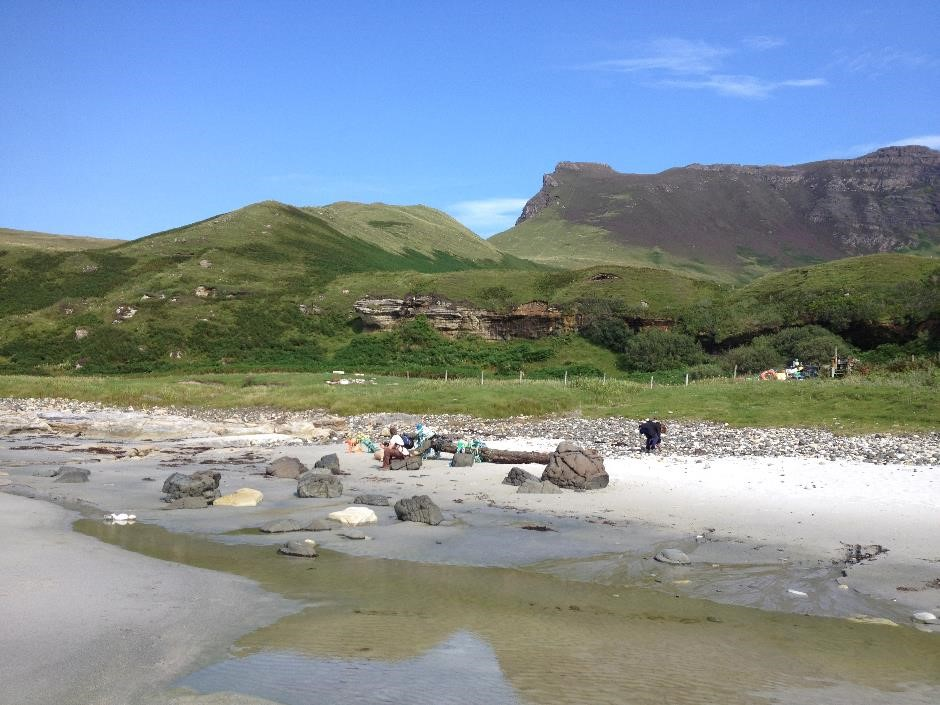 Singing Sands beach, Isle of Eigg