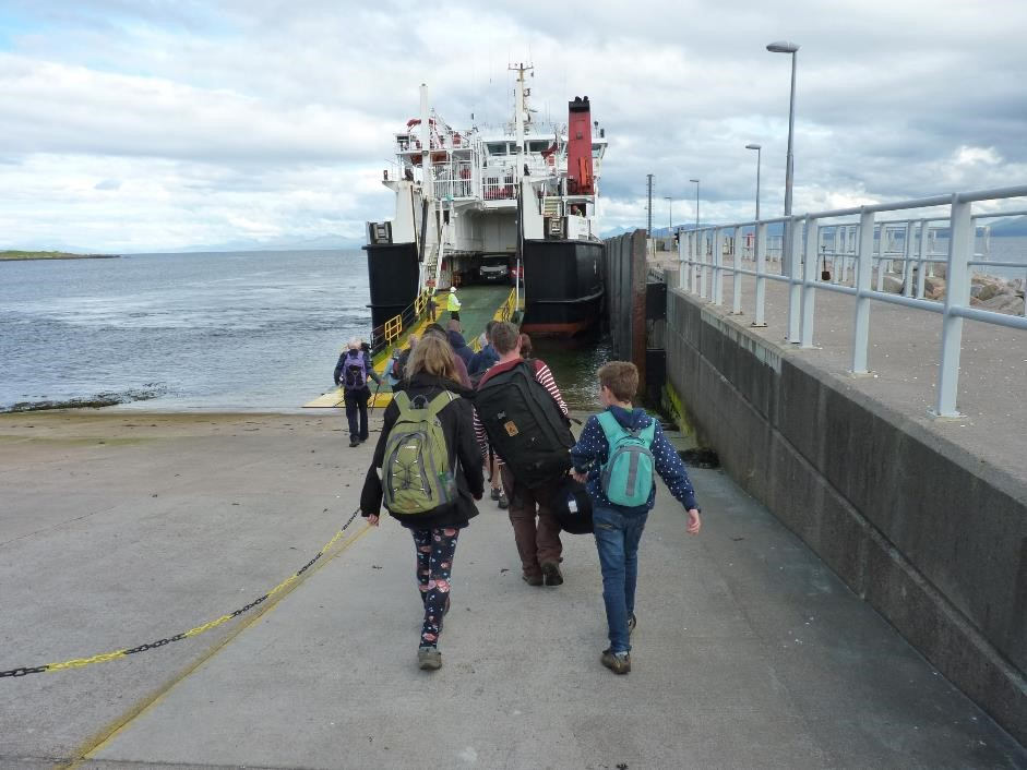Boarding MV Lochnevis, Eigg to Mallaig ferry