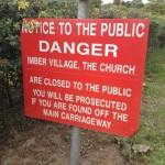 Entrance to Imber village