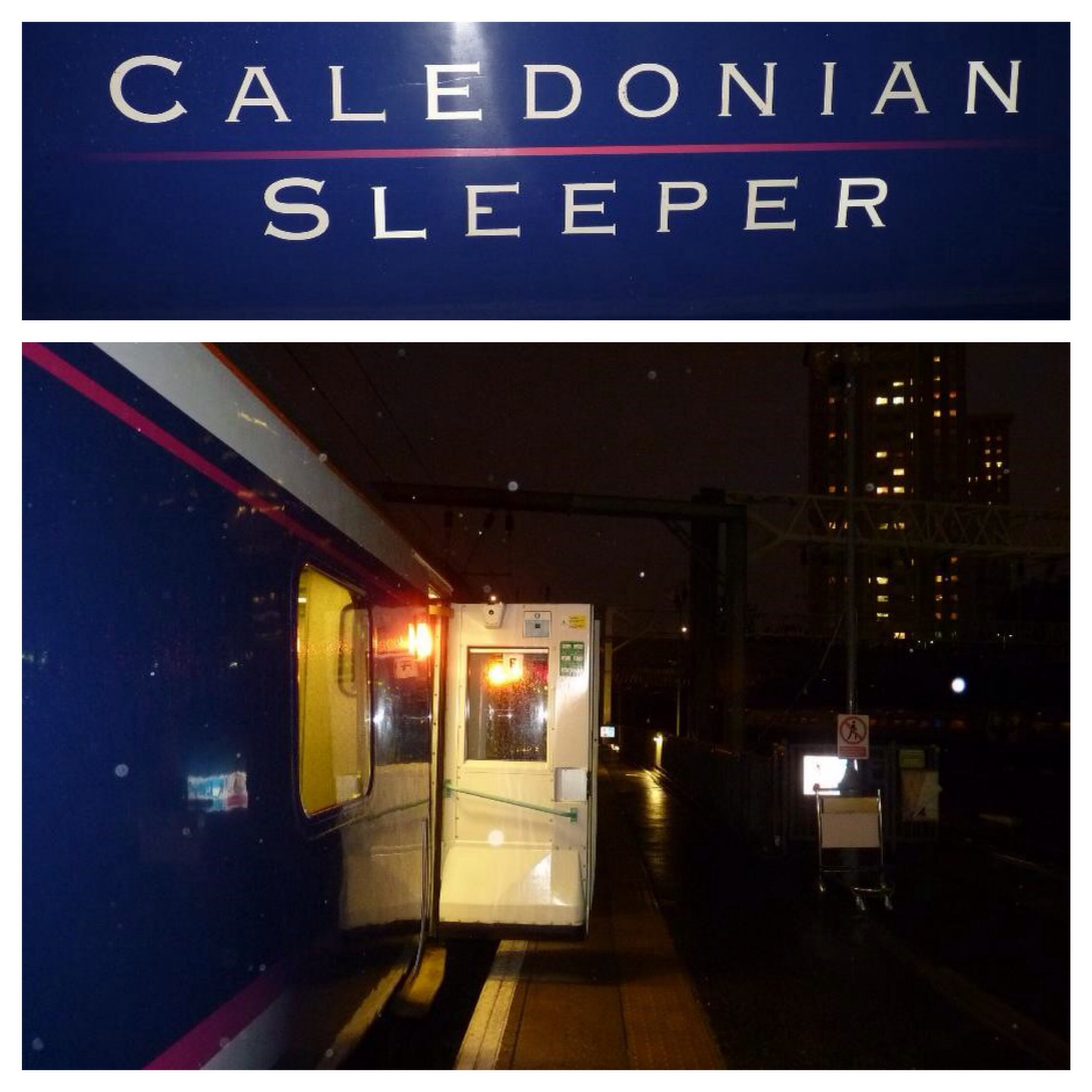 Boarding the Caledonian Sleeper at London Euston