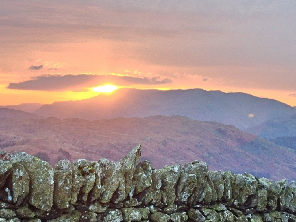 Sunset over the Fairfield Horseshoe