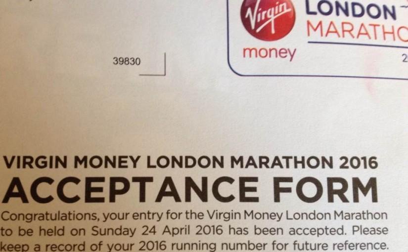 London Marathon acceptance