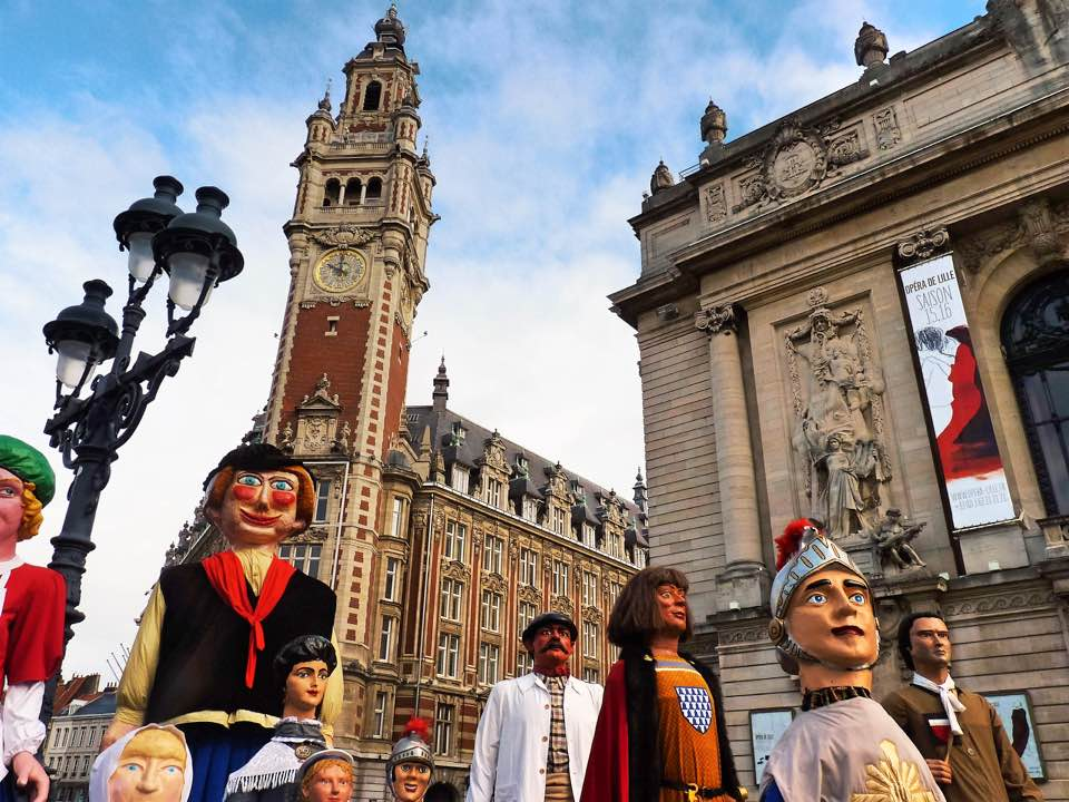 Parade of giants, Place du Theatre, Lille