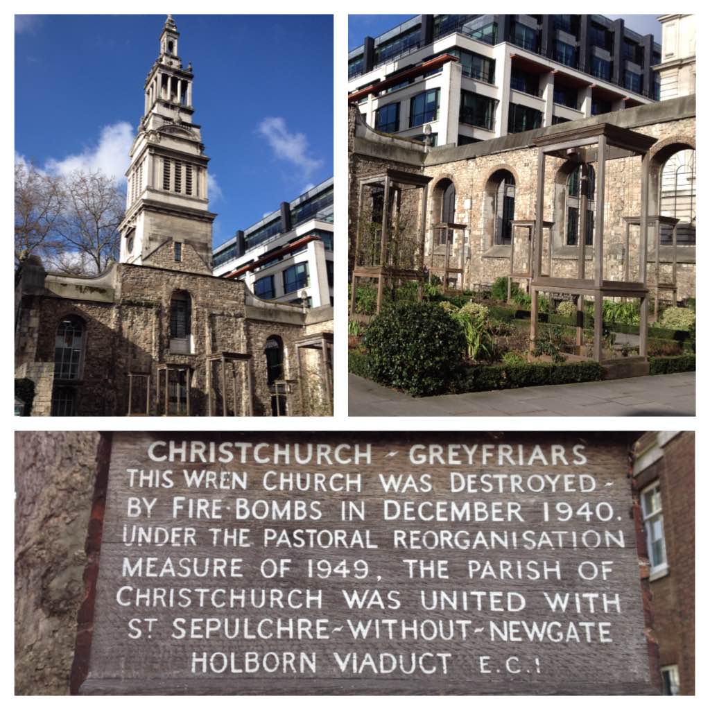The ruins of Christchurch Greyfriars
