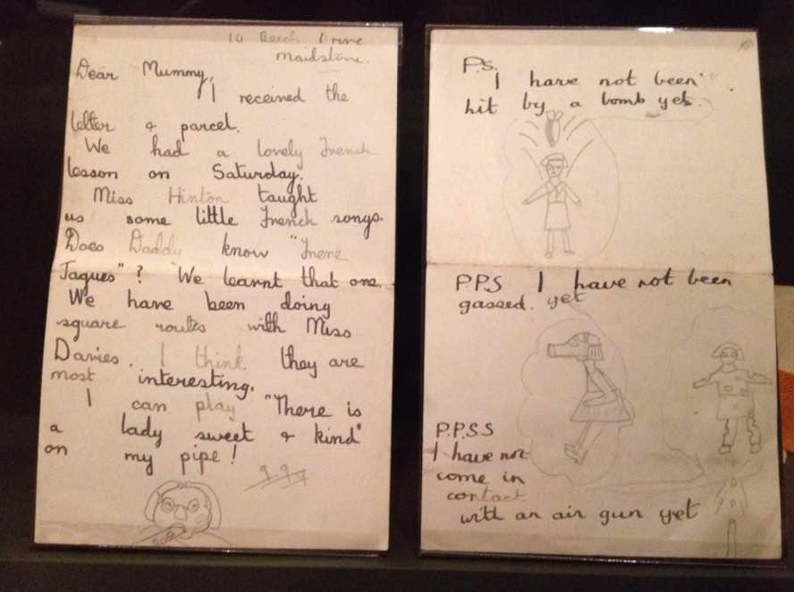 Evacuee letter, Imperial War Museum