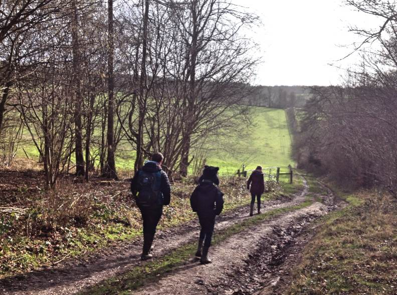 Walking the Ridgeway near Swyncombe