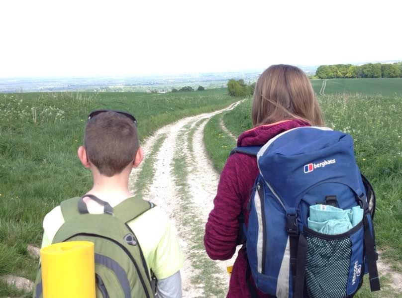 Start of the Lambourn Valley Way