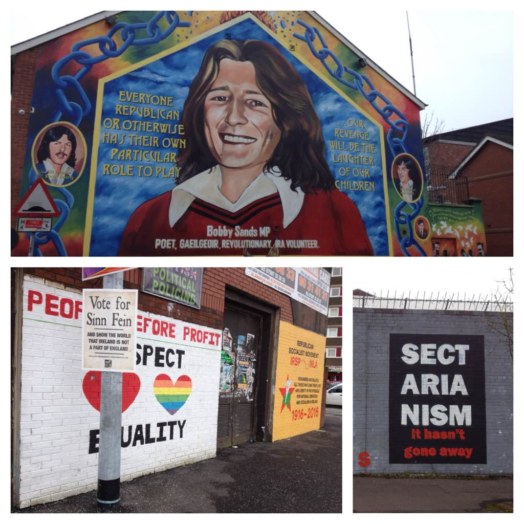 Murals in Falls Road area, Belfast