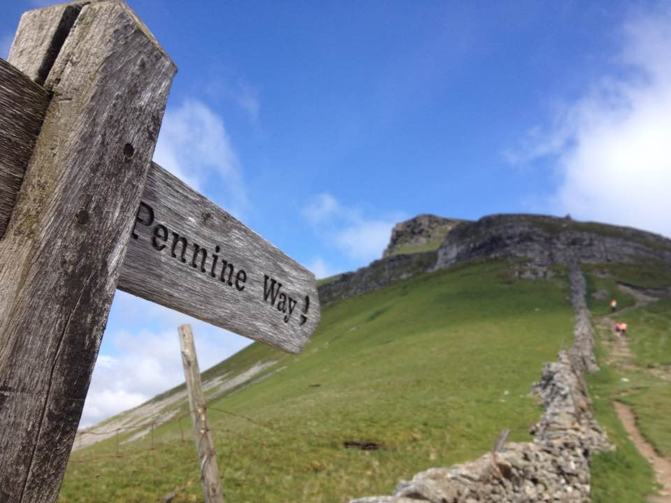 Following the Pennine Way up Pen-y-Ghent