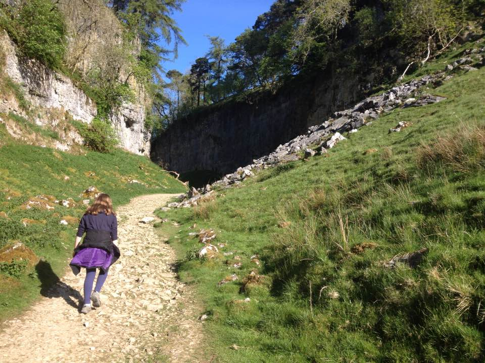 Walking up through Trow Gill
